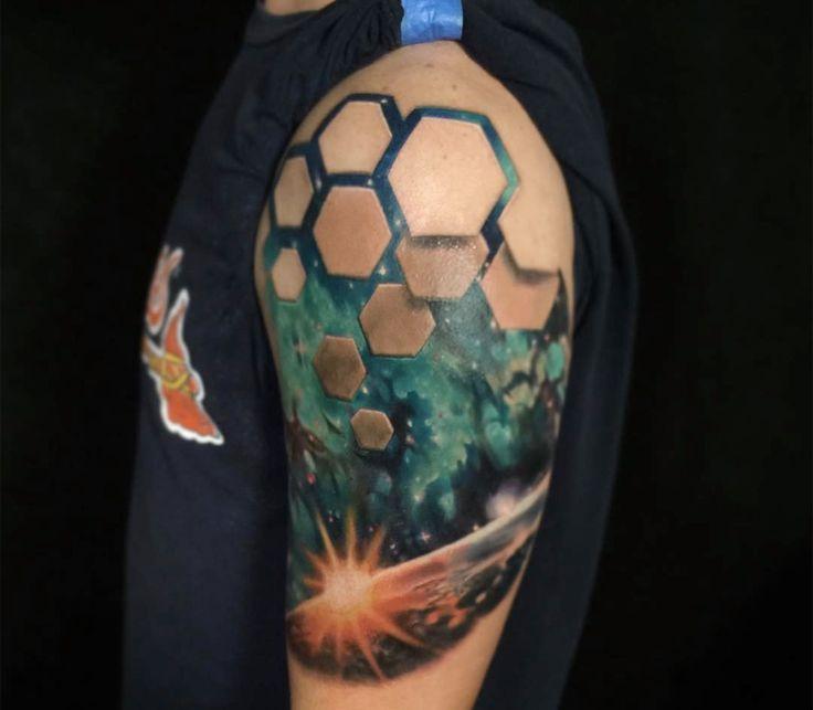 Optical Illusion Tattoos Reveal Worlds Beneath Skin By Jesse Rix