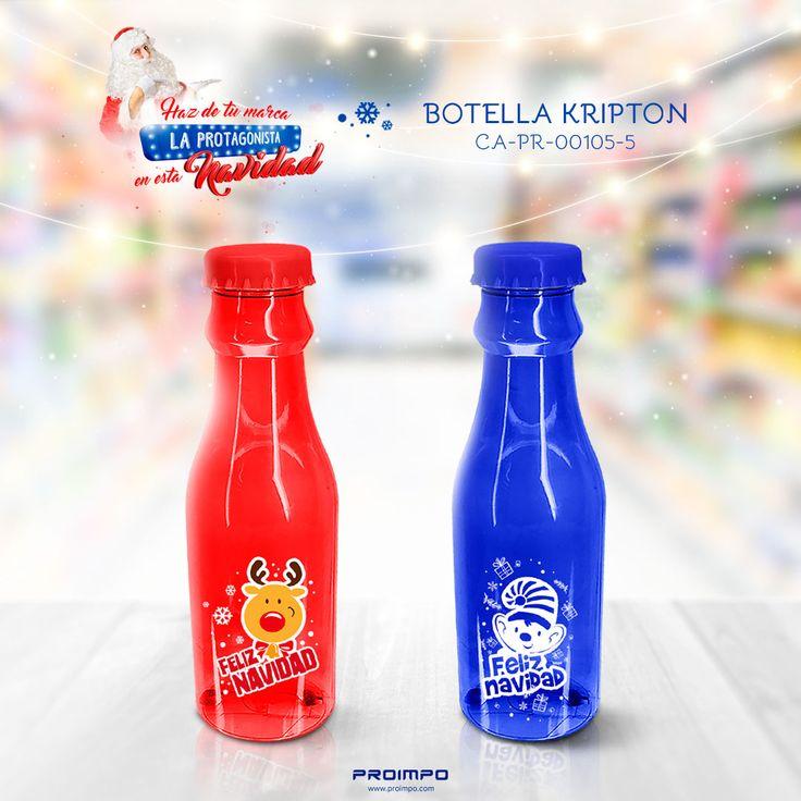 Botella Kripton promocional navidad. Estrategias de marketing