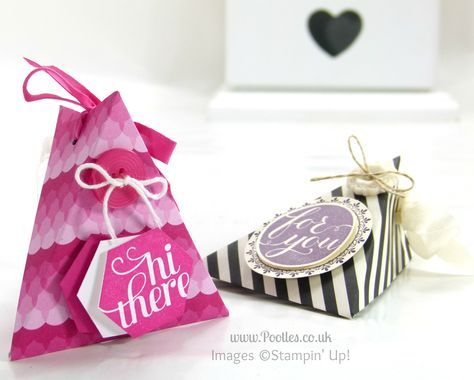 Pootles Stampin' Up! UK Demonstrator - 6x6 (3x6!) Triangle Treat Pouch Tutorial .. Check out the video... Easy peasy
