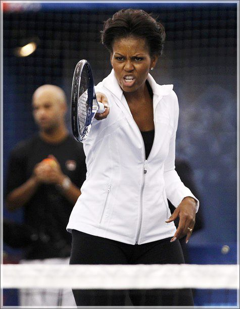 Madame: The Journey of a Weight Loss*ista: Michelle Obama Teams Up with Serena Williams, James Blake; Takes Let's Move To US Open!