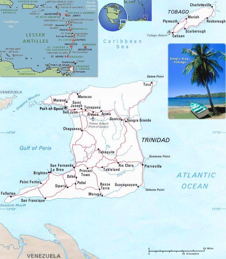 Map of Trinidad & Tobago