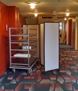 A Catering Cart Plays Hide And Seek Behind A Room Divider 360 Keep Portable Partitionsroom