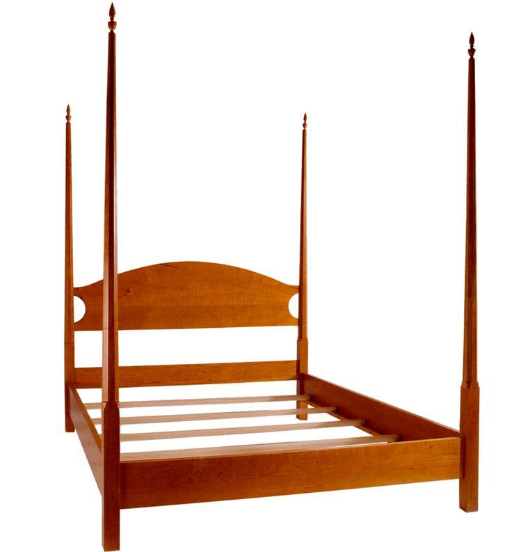 Pencil post bed shaker furniture handmade furniture for Shaker bed plans