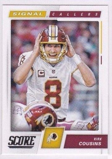 2017 Score Kirk Cousins Washing Redskins Signal Caller Card #14 #WashingtonRedskins