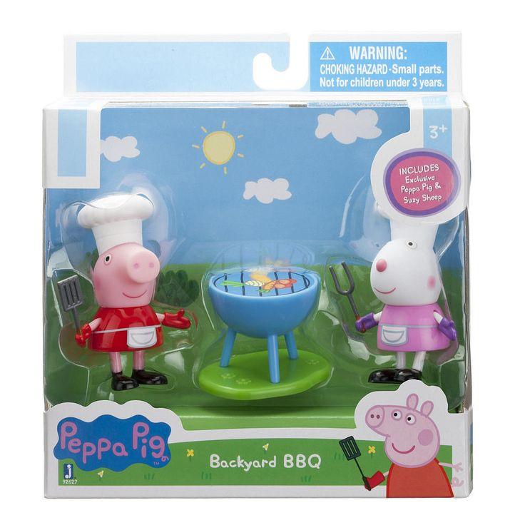 Peppa Pig & Suzy Sheep Backyard BBQ Figures/Dolls BNIB~ HTF New/Sealed! Ages 3+ #Jazwares