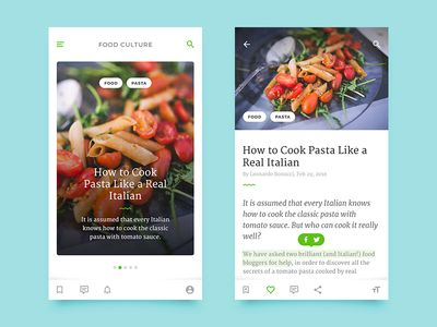 Article Cards & Reader (iOS)