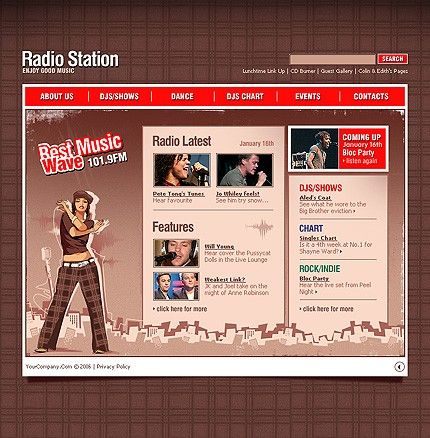 Radio Online Flash Templates by Lovely