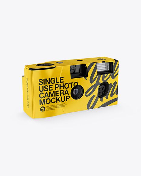 Free Mockup Psd Disposable Camera Front Half Side View Object Mockups