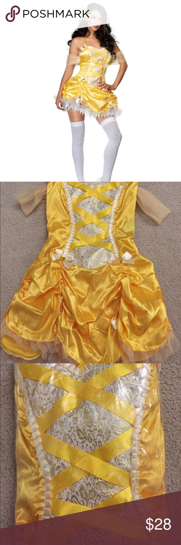Belle Halloween Costume Beauty and the Beast sexy Belle costume size M/L. Leg Avenue brand. Like new condition, never worn only tried on and it was too big for me. Comes with dress (petticoat stockings and hair ribbon not included). Dresses Mini