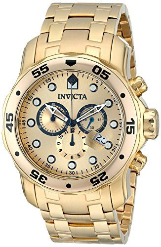 Invicta Men's 0074 Pro Diver Chronograph 18k Gold Plated Stainless Steel Watch Invicta http://www.amazon.com/dp/B00075U5I0/ref=cm_sw_r_pi_dp_Pq2kub1TVXS0G