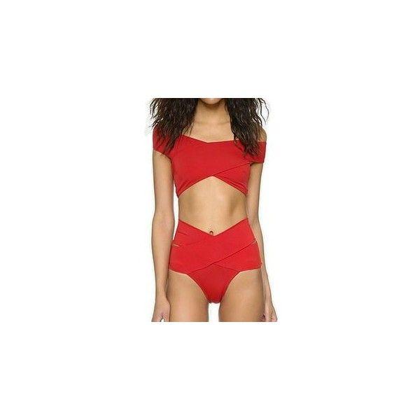Off-Shoulder Wrap Bikini ($19) ❤ liked on Polyvore featuring swimwear, bikinis, women, bikini two piece, bikini swimwear, bikini beachwear, wrap bikinis and bikini swim wear