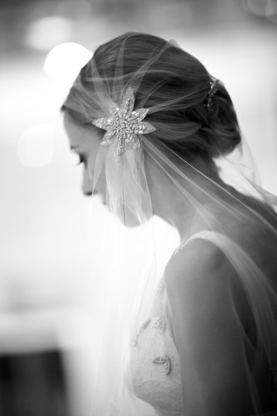 Stunning headpiece/veil.