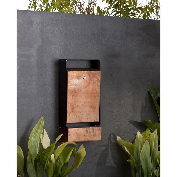 Buzon Copper Cruz Wall Mounted Letterbox $415