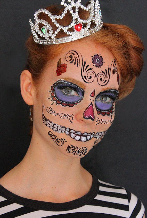 17 best ideas about sugar skull design on pinterest for Halloween temporary tattoos