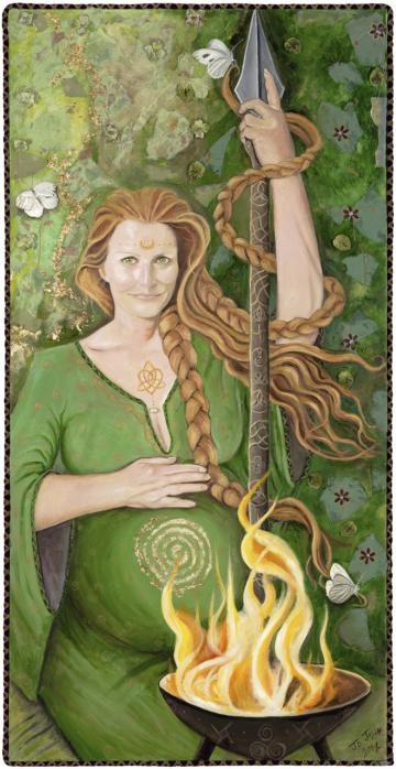 Brighid - Mother Goddess of Ireland by JoJaysonArt for $795.00