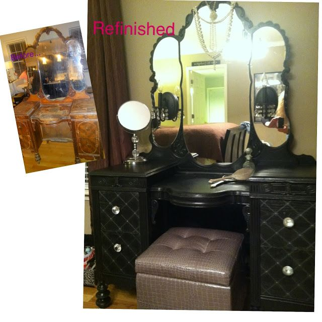 Makeup Vanity Ideas | Furniture. Cool Makeover Makeup Vanity Table With Stools And Large ...