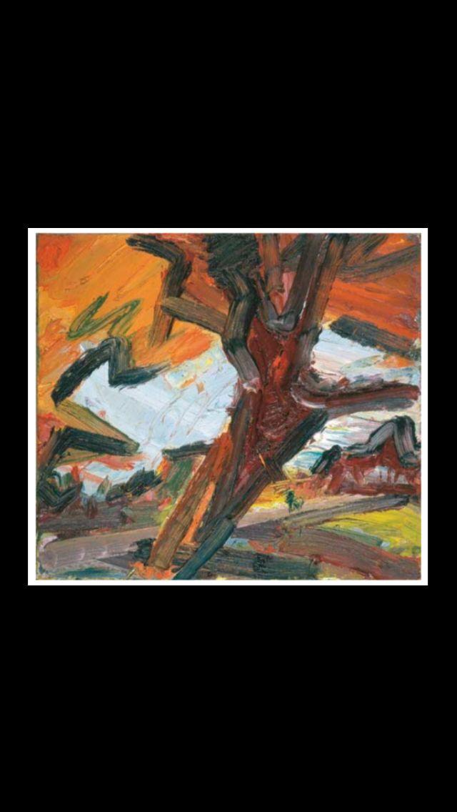 ".. Frank Auerbach - "" Tree on Primrose Hill "", 1986 - Oil on canvas - 40,6 x 45 cm (*)"