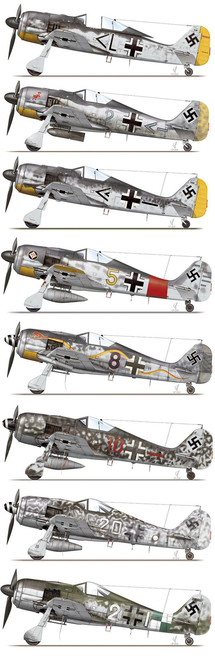 1939-49 Focke-Wulf FW 190. Luftwaffe, HAF, TAF - Fighter. Engine: Junkers Jumo…