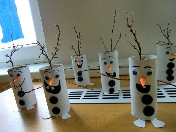 SNĚHULÁK OLAF - prostorově vystihnout sněhuláka Olafa ze Zimního království (prostorová tvorba)
