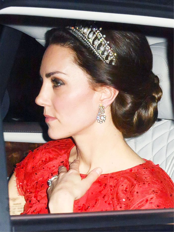 Kate Middleton Wore Princess Diana's Tiara With a Fairy-Tale Dress via @WhoWhatWear