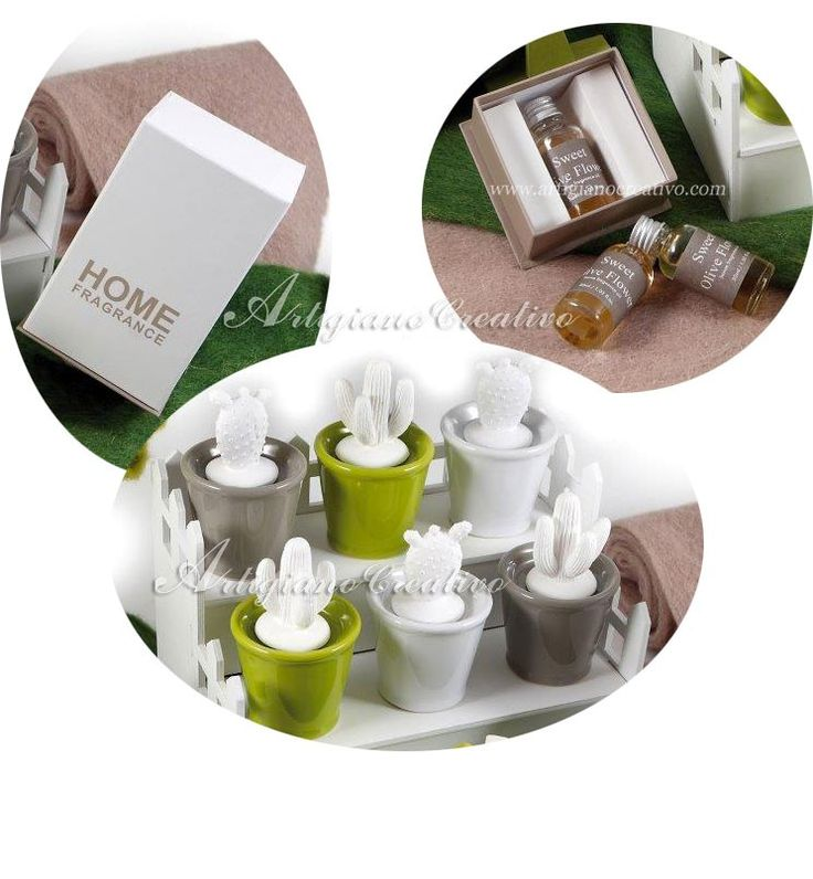 Perfume diffuser in porcelain shaped as a succulent plant SZ01 in artigianocreativo.com you shop italian luxury wedding gifts and favors at he best price!