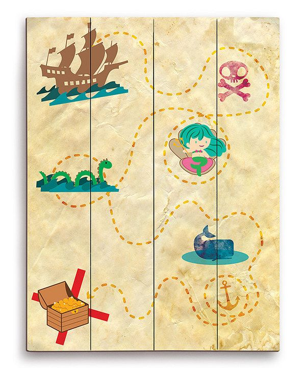 Another great find on #zulily! Pirate Map Wall Art by Image Canvas #zulilyfinds