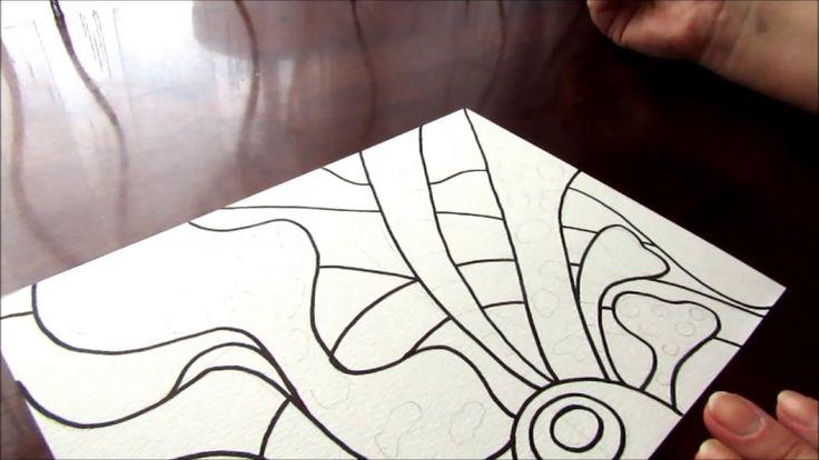 Рисуем абстрактный узор черной ручкой. Зенарт, дудл стиль.
