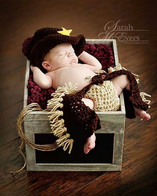 Newborn baby cowboy chaps ONLY hat not included   by shortycrochet, $28.00