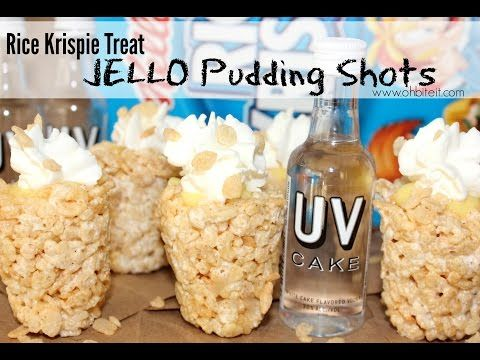 ~Rice Krispie Treat JELLO Pudding Shots! | Oh Bite It