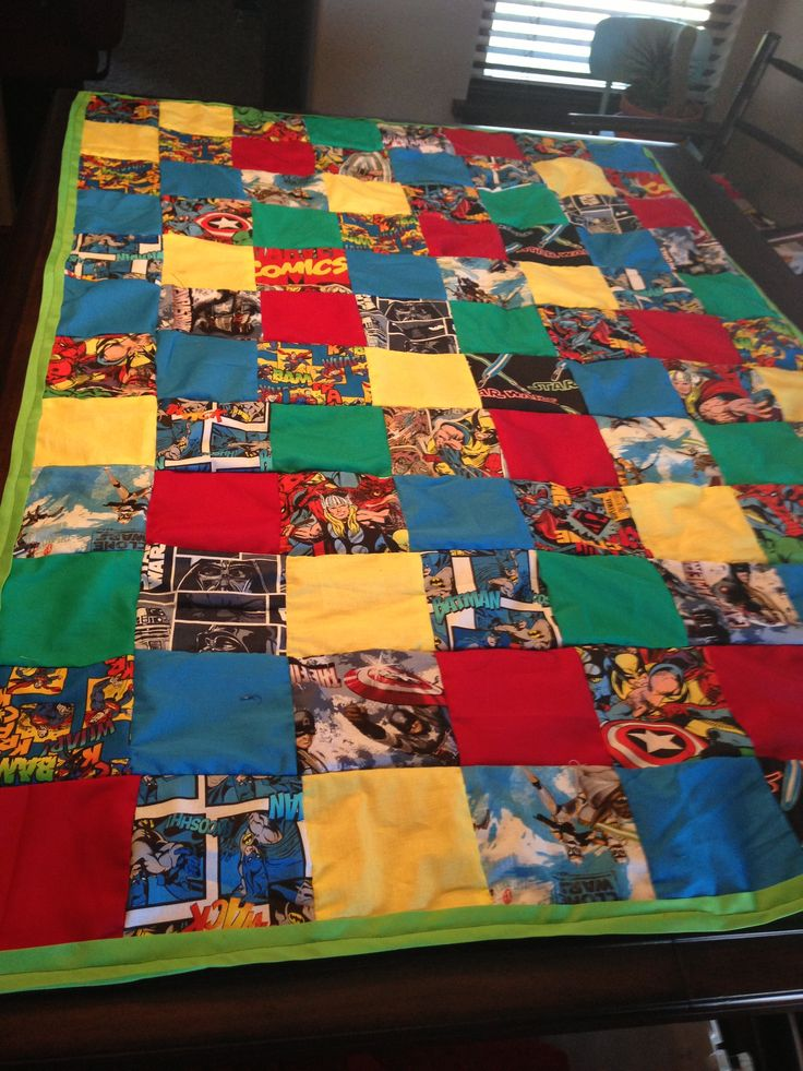 Super Hero Quilt Made By Me Pinterest Quilt And Heroes