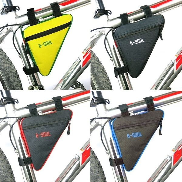 Bicycle Front Frame Triangle Bag Cycling Bike Tube Pouch Holder Saddle Panniers