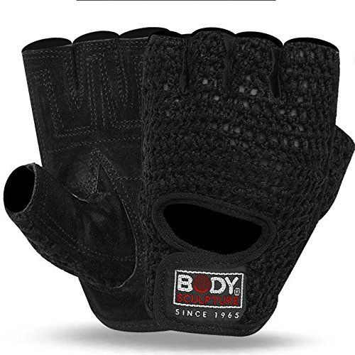 Weight Lifting Training Suede Leather and Crochet Fingerless Driving Cycling Wheelchair Gloves W1042 XLARGE ** Want to know more, click on the image.