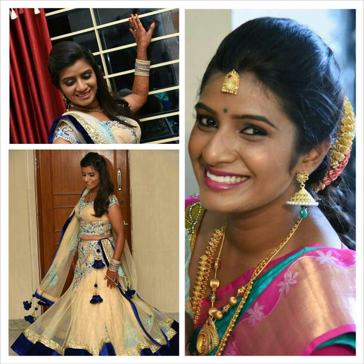 Brides sister-in-law#reception and muhurtham#bangaloremakeupartist