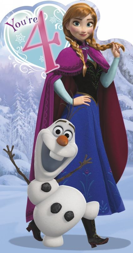 uk greetings frozen 4th birthday card  cards gifts and