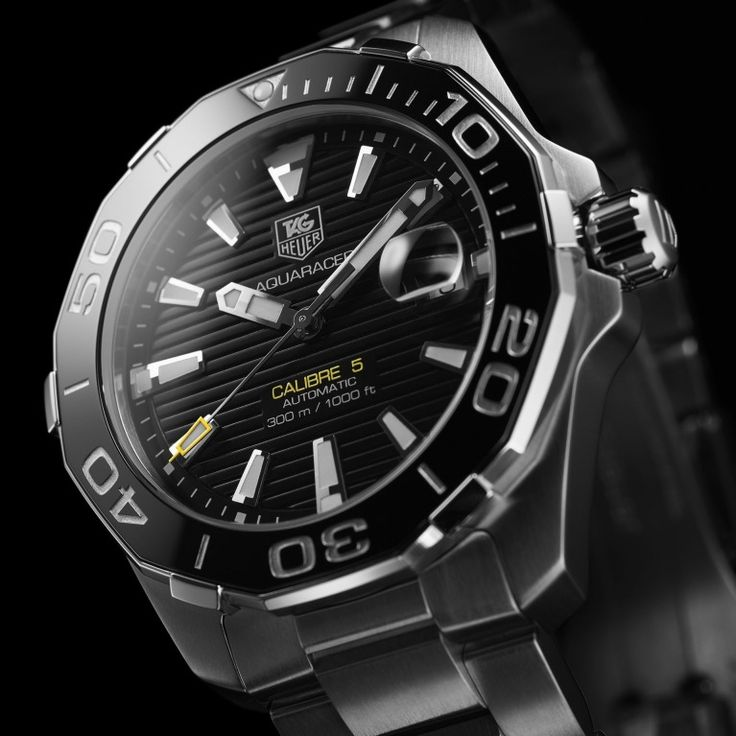 """TAG Heuer Aquaracer Calibre 5 Automatic Watch 41mm Watch, Automatic calibre, rapid date correction, Fine-brushed and polished """"H-shape"""" steel bracelet #mens-fashion #men-watches#watch #watch-accessory #watch-strap"""