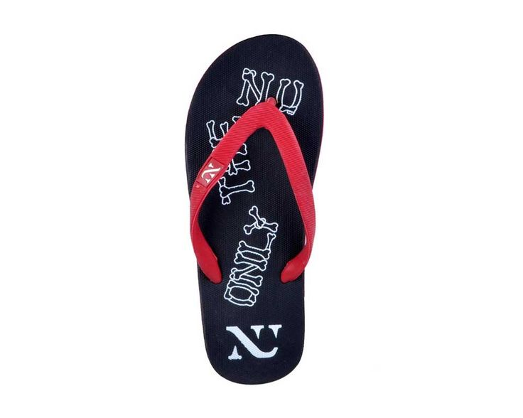 Numero Uno Men's Black and Red Slipper - NU-213BLK_RED only @ Rs. 279