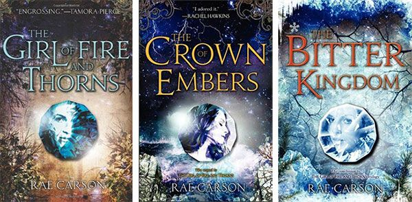 "The ""Fire and Thorns"" trilogy by Rae Carson (audiobook) (erinreads.com) (2014)"