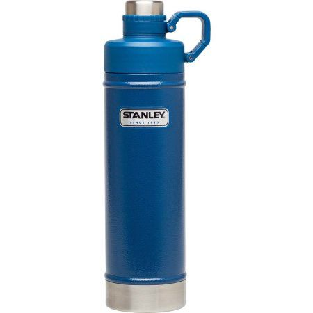 Stanley Classic 18 oz Vacuum Water Bottle, Hammertone Cobalt, Blue