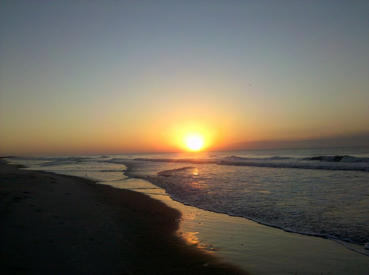Onslow Beach, NC watching the sunrise with my family : )
