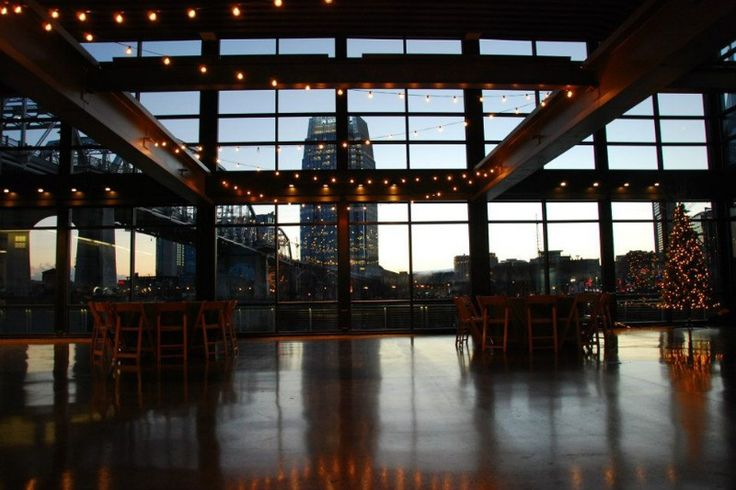 The Bridge Building. No other event space in Nashville offers a waterfront view like The Bridge Building. Located on the east bank of the Cumberland River, the historic landmark has been turned into a modern event venue. Multiple event floors enable this space to be versatile in both design and function.
