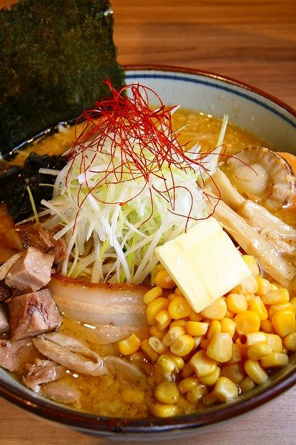 Traditional Sapporo-Style MISO Ramen Noodles Soup (Pork, Scallop, Negi Onion, Corn and Butter Cube)|サッポロ味噌ラーメン