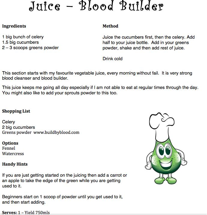 Juice – Blood Builder