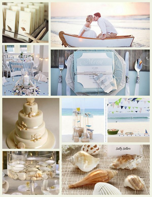 Beach Weddings Destination Shells Boat Place Setting Table Decor