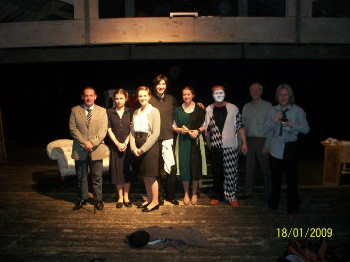 The cast and director of The Dresser before opening night.