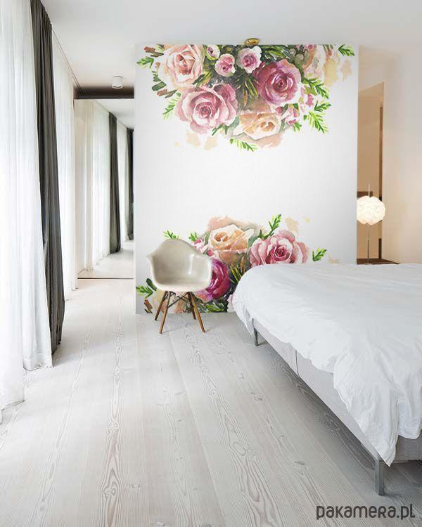 dodatki - dekoracje - inne-Samoprzylepna fototapeta- malowane róże