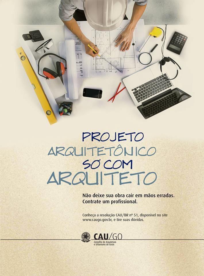 """CAU/GO inicia campanha """"Projeto arquitetônico, só com arquiteto"""" em rádio de Goiânia"""