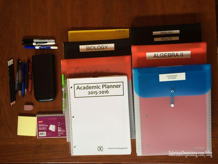 backpack organization supplies