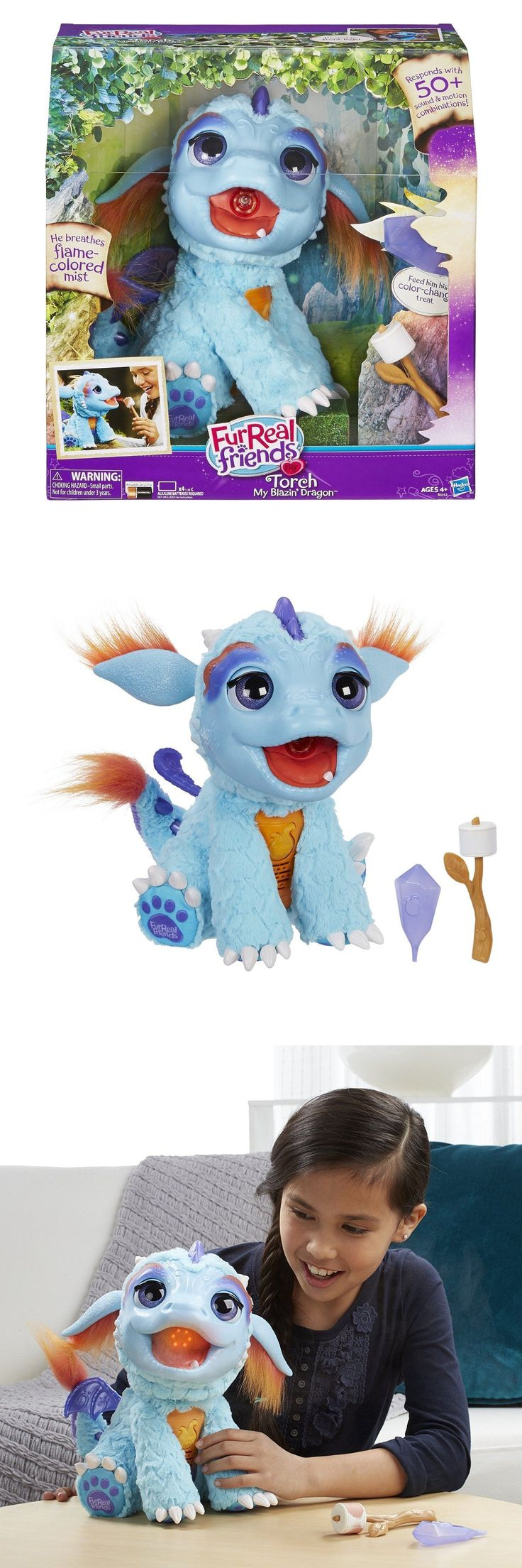 FurReal Friends 38288: Hasbro Furreal Friends Torch My Blazin Dragon Interactive Toy Plush -> BUY IT NOW ONLY: $68.95 on eBay!