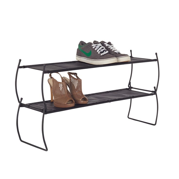 Howards Storage World | Imelda Shoe Rack Set of 2 - Black  #howardsstorage #mychristmaswishlist