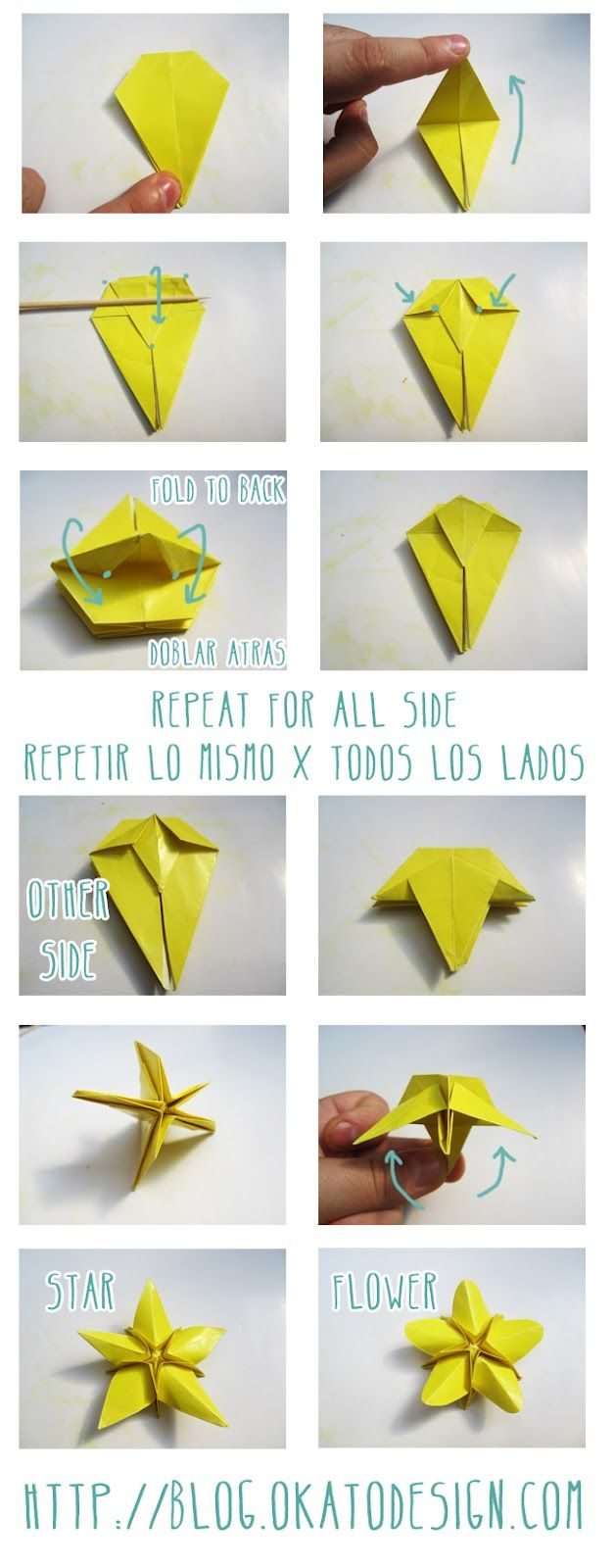 Diy star origami ornament origami star - Diy And Crafts Pic3 Origami S Star Flower Http Blog Okatodesign